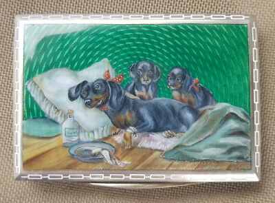 Early 20th Century Silver Guilloché Enamelled Snuff Box