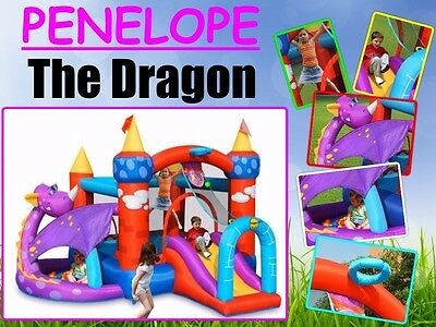 9022 Dragon Jumping Castle Bounce House With Ball Pit Happy Hop