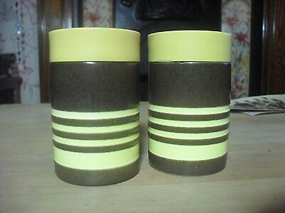 Vintage Hornsea pottery roundalay salt and pepper set. 1967 J. Clappison, Boot's