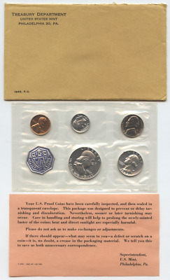 1963 P United States Silver Proof Set in Envelope w/ COA