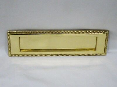 Rare Antique Vintage Cast Brass Mail Door Letter Slot