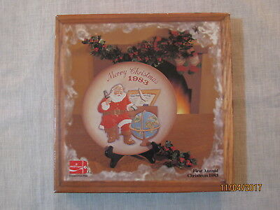 Vtg 1983 Coca Cola First Annual Christmas Plate,Royal Orleans,Original Box,COA
