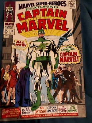 Marvel super-heroes. First appearance of captain marvel very hot comic