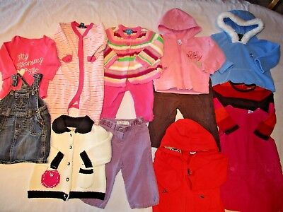 Lot of baby girls clothes, size 6-9, 9, 6-12 months.  Winter/ Spring Clothes