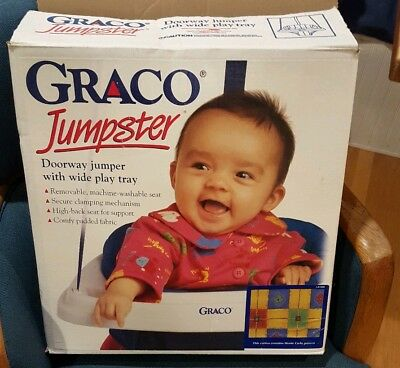 GRACO Doorway Jumper JUMPSTER Johnny Jump Up With Tray & Manual VGUC