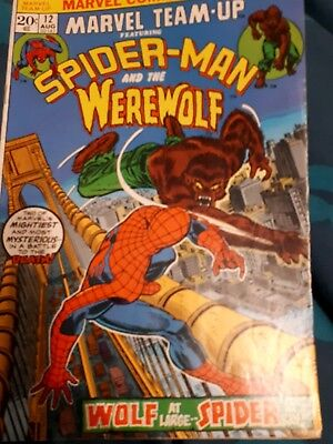 Marvel team-up no.12. Spider-Man and the werewolf.  High grade cents issue