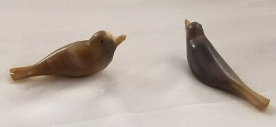 Pair Of 2 Beautiful Carved Horn Bird Cigarette Holder Vintage Smoking Tobacco