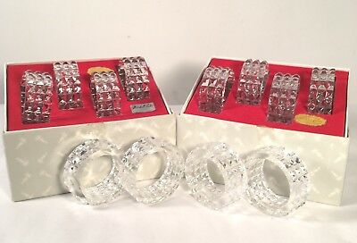 Marshall Fields 24% Lead Crystal Made In West Germany 12 Napkin Rings