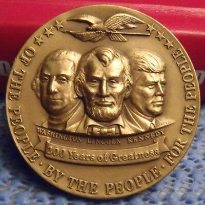 1976 Washington, Lincoln, Kennedy 200 Years of Greatness Medallic Art Co. Medal