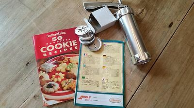 Stainless Steel Shule Biscuits Cookie Press w/Discs - New Without Box