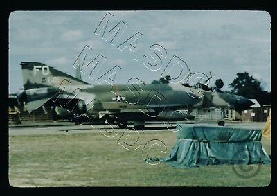 "35mm Duplicate Aircraft Slide - F-4D Phantom 66-7681 ""FO"" 435th TFS @ Ubon 1967"