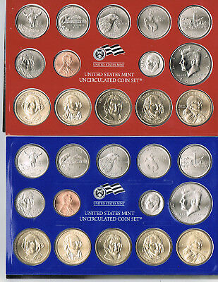 2007 Denver & Philadelphia United States Mint Uncirculated Coins (28) Set COA