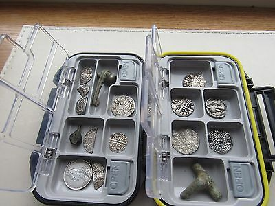 Metal detecting finds box/case for hammered coin's**Minelab xp deus**