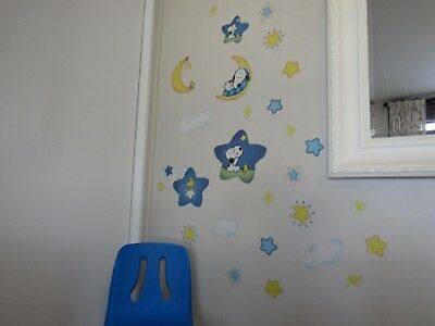 Priss Prints BABY SNOOPY  Jumbo Wall Stick Ups Total of 26 Stickers Reusable !!
