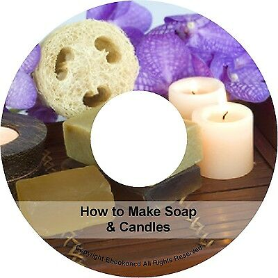 How to Make Soap & Candle Making Recipes Instructions Method Manual Books on CD