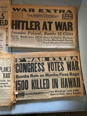 Newspapers World War Two. Pearl Harbor, Peace and Other Issues