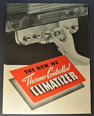 1942 Studebaker Climatizer Accessories Dealer Only Brochure Commander Champion