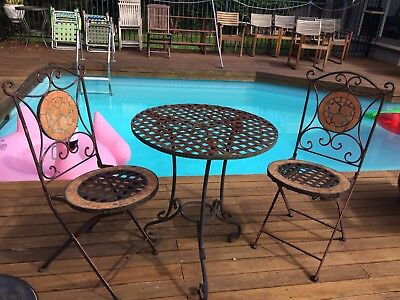 Vintage Garden/Pool Setting For 2 In Good Strong Sturdy Condition