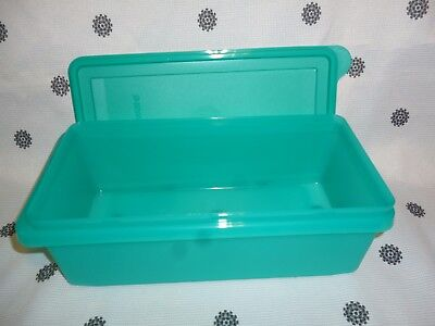 Tupperware 1.2L Teal Green Rectangular Container New