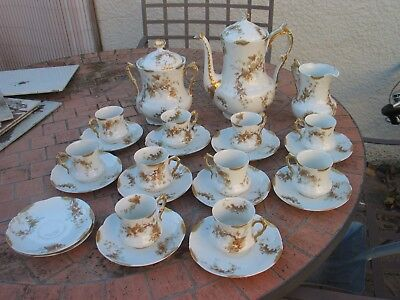 Very Rare,  Vintage  Limoges Coffee Set - Signed  ; MARTIAL REDON