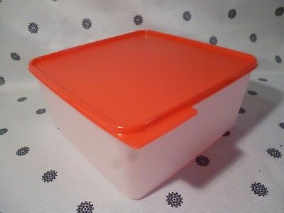 Tupperware Large 5L Red Seal Square Keep Tab Container New