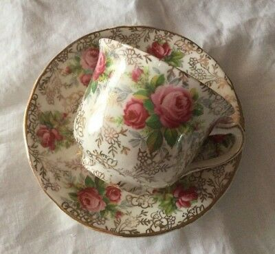 Pretty James Kent June Roses Chintz Cup & Saucer.Made in England.