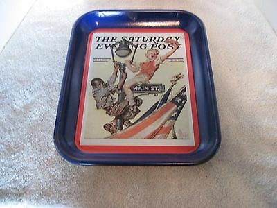The Saturday Evening Post, Collectible Tray, Issued 2002, Hurry For Old Glory