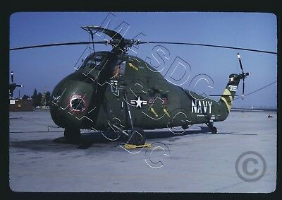 35mm Kodachrome Helicopter Slide - HUS-1 SeaHorse BuNo143965 USS Valley Forge 67