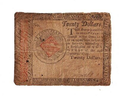1779 Colonial Currency $20