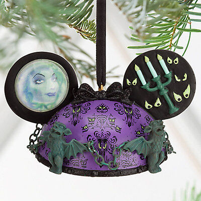 NEW! Disney Parks The Haunted Mansion Ear Hat Christmas Ornament