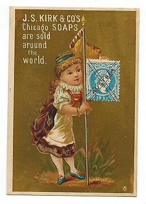 Vintage Late 19th - Eary 20th Century J.S. KIRK & CO's SOAPS Chicago Trade Card
