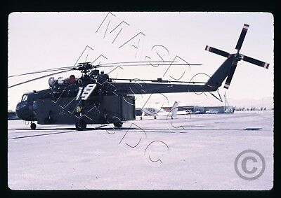 35mm Kodachrome Helicopter Slide - CH-54A Sky Crane 8442 w/ container May 1968