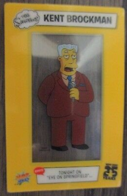 The Simpsons 25 Years animation mini cell film card Hotshots 2014- Kent brockman