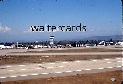 EKTACHROME 35mm Slide 1970s 1974 Acapulco Mexico airport airplanes tower runway