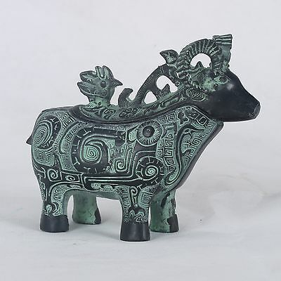 Chinese Bronze Handwork Carved  Sheep Incense Burner  QT007