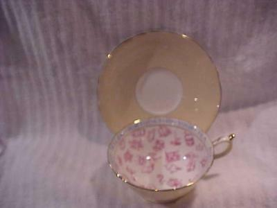Fabulous Vintage Paragon Fortune Teller Cup and Saucer -- MINT and Never Used.