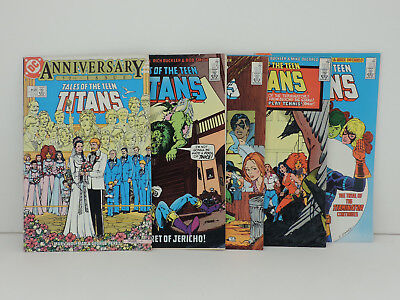 Tales of the TEEN TITANS, DC Comics,Lot of 5, Issues#50,51,52,53,54,1985 Bronze