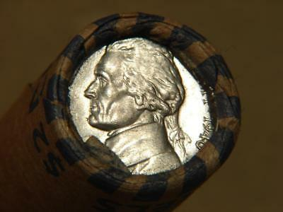 Old Unsearched Jefferson Nickel Roll of 40 Coins With BU 1940 and BU 1938 Ends