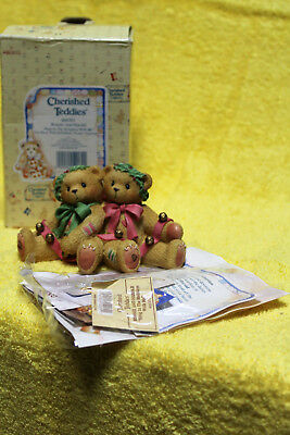 Enesco Cherished Teddies Bonnie And Harold Ring In The Holidays With Me