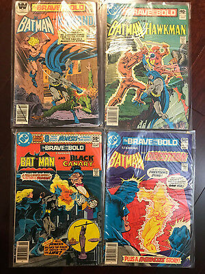 DC's Brave And The Bold Comic Book Lot W/ Batman, Canary, Hawkman Readers