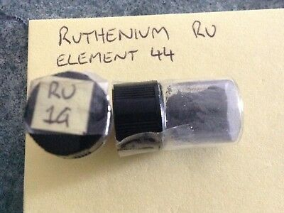 1 gram 99.95% Ruthenium Ru Powder Sample