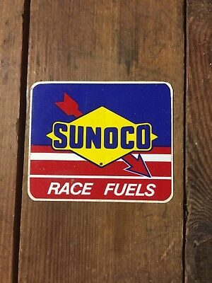 VINTAGE SUNOCO RACING FUELS STICKER DECAL SIGN Shell Gas Oil Esso Standard Mobil