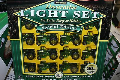 20 pc. John Deere 4020 tractor decorative indoor outdoor lights, christmas light
