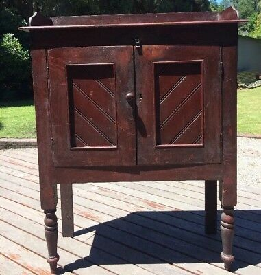 Antique Colonial Meat Safe Awesome Patina Very Original Turned Legs Victorian