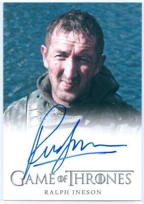 "Ralph Ineson ""dagmer Cleftjaw Autograph Card"" Game Of Thrones Season 4"