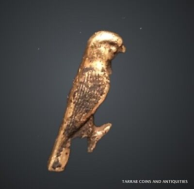 Ancient Egyptian Gold Amulet In The Form Of A Falcon, Ptolemaic Period 332-30 Bc