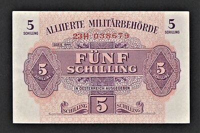 vad - AUSTRIA - ALLIED MILITARY AUTHORITY - 5 SCHILLING BANKNOTE - P# 105 *A/U*