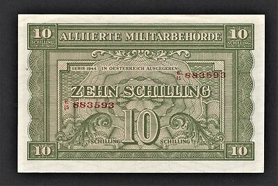 vad - AUSTRIA - ALLIED MILITARY AUTHORITY - 10 SCHILLING BANKNOTE - P# 106 *UNC*