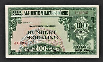 vad - AUSTRIA - ALLIED MILITARY AUTHORITY - 100 SCHILLING BANKNOTE - P# 110a UNC