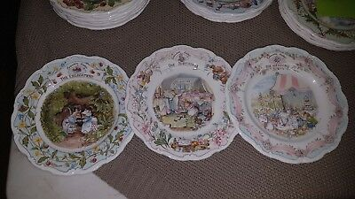 """Royal Doulton Brambley Hedge """"Special Occasion"""" Plates"""